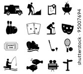 leisure and fun activities icon ... | Shutterstock .eps vector #95007694
