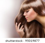 blond hair.beautiful woman with ... | Shutterstock . vector #95019877