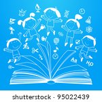 outlines of the figures... | Shutterstock .eps vector #95022439