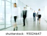 business people walking in the... | Shutterstock . vector #95024647