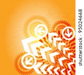 arrow abstract vector... | Shutterstock .eps vector #95024668