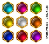 Set Of Web Buttons With Gems...