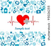 heart cardiogram with heart.... | Shutterstock . vector #95026255