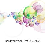 Colorful Bubbles On White