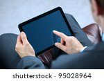 businessman with finger... | Shutterstock . vector #95028964
