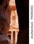 the treasury of petra from al... | Shutterstock . vector #95040301