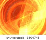 bright neon abstract page design illustration background fire sun star - stock photo