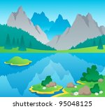 mountain theme landscape 6  ... | Shutterstock .eps vector #95048125