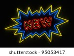 neon sign promoting a new...   Shutterstock . vector #95053417