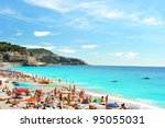 View Of The Beach In Nice ...