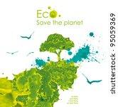 illustration environmentally... | Shutterstock . vector #95059369