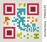 2012 qr code in cool colors | Shutterstock .eps vector #95063155