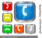 image of various colorful phone ... | Shutterstock .eps vector #95063998