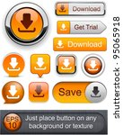 download web orange buttons for ... | Shutterstock .eps vector #95065918