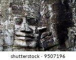 Bayon Temple, Angkor Wat - stock photo