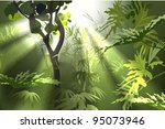 thickets of green tropical... | Shutterstock . vector #95073946