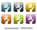 buttons  app with hand and dog... | Shutterstock . vector #95074453