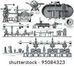 paper machine. publication of... | Shutterstock . vector #95084323
