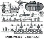 paper machine. publication of... | Shutterstock . vector #95084323