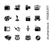 multimedia computer icon set | Shutterstock .eps vector #95085397