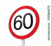 speed limit sign 60 | Shutterstock . vector #95086870