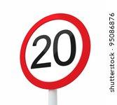 speed limit sign 20 | Shutterstock . vector #95086876