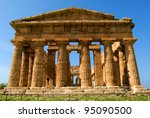 a view of paestum temple ... | Shutterstock . vector #95090500