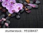 branch pink orchid with stones...   Shutterstock . vector #95108437