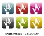 button  app with great hands... | Shutterstock . vector #95108929