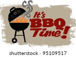 vintage bbq grill party | Shutterstock .eps vector #95109517