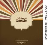 vintage template with retro sun ... | Shutterstock .eps vector #95125720