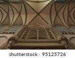 Old Organ Under A Cross Vault....