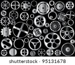 chrome gears and wheels vector...   Shutterstock .eps vector #95131678