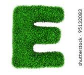 letter e  made of grass... | Shutterstock . vector #95132083
