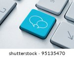 social media key with two... | Shutterstock . vector #95135470