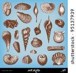 Engraving Vintage Shells Set...
