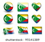 the comoros flag   set of icons ... | Shutterstock . vector #95141389