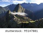 Machu Picchu At Sunrise With...