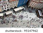 old town square  prague  czech... | Shutterstock . vector #95147962