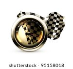 racing icon  vector | Shutterstock .eps vector #95158018