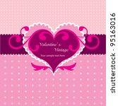 valentine vintage heart   Shutterstock .eps vector #95163016