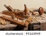 Set Of Carpenters Tool At...