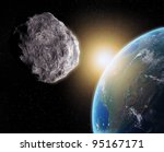 Large Asteroid Closing In On...