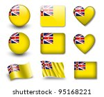 the niuean flag   set of icons... | Shutterstock . vector #95168221