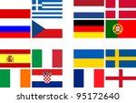 national team flags european...   Shutterstock . vector #95172640
