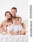 happy family with children in...   Shutterstock . vector #95194903