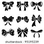 set of bow  | Shutterstock .eps vector #95195239