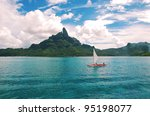 sailing  over the turquoise...   Shutterstock . vector #95198077