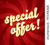 special offer stamp on a... | Shutterstock .eps vector #95198368