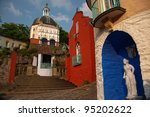 colourful houses in portmeirion ...